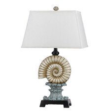 """Shell Resin 29"""" H Table Lamp with Rectangular Shade"""