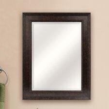 Marbled Bronze Beveled Mirror