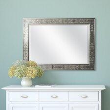 Silver Medallion Beveled Mirror
