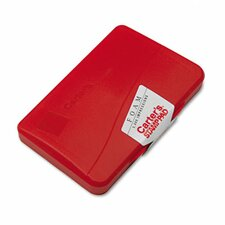 Foam Stamp Pad, 4.25w x 2.75d, Red (Set of 5)