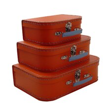 Vintage Travelers Mini Suitcases (Set of 3)