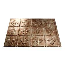 "Fleur de Lis 24.25"" x 18.25"" PVC Backsplash Panel in Bermuda Bronze Kit"