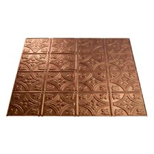 Traditional 1 2 ft. x 2 ft. Drop-In Ceiling Tile in Antique Bronze (Set of 5)