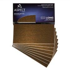 """Long Grain 6"""" x 3"""" Metal Tile in Brushed Bronze Kit"""