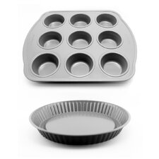 Earthchef Pie and Muffin Pan Set (Set of 2)