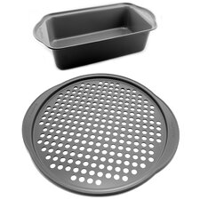 EarthChef 2 Piece Pizza and Loaf Pan Set (Set of 2)