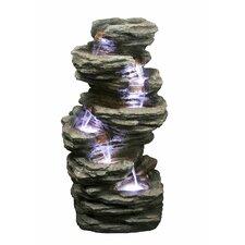 Fiber and Resin Fountain Slate Stone Fountain