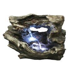Fiber and Resin Log Waterfall Fountain