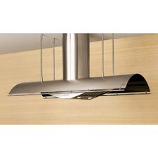 """Cheng Trapeze 54"""" 1000 CFM Island Range Hood in Stainless Steel"""