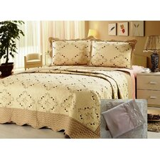 Microfiber Embroidery 7 Piece Quilt Set