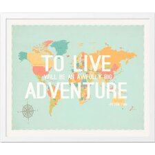 To Live Map Wall Hanging