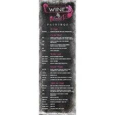 Life Lines Wine Food Pairings Chalkboard Textual Art Plaque