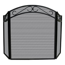 Uniflame 3 Panel Wrought Iron Arch Top Screen