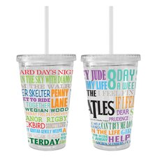 Beatles Greatest Hits Color Wall Tumbler