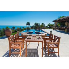Malibu 5 Piece Dining Set (Set of 5)