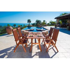 Malibu 5 Piece Dining Set