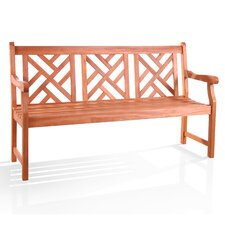 Outdoor Eucalyptus Garden Bench