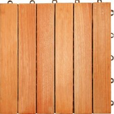"Eucalyptus 12"" x 12"" Interlocking Deck Tile"