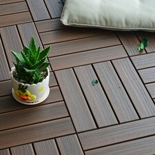 "Composite Walnut 12"" x 12"" Deck Tiles (Set of 11)"