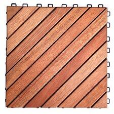 "Eucalyptus 11"" x 11"" Interlocking Deck Tiles (Set of 10)"
