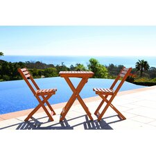 Eucalyptus 3 Piece Folding Dining Set