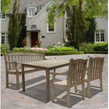 Renaissance Rectangular Dining Table, Bench and Armchair Set