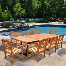 Patio 9 Piece Dining Set