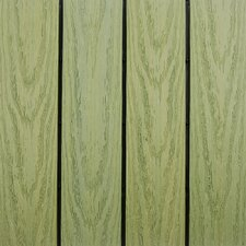 "Naturale Composite 12"" x 12"" Interlocking Deck Tiles in Irish Green (Set of 10)"