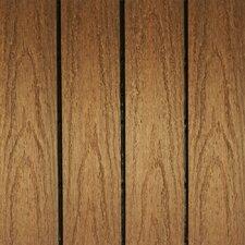 SAMPLE - Naturale Composite Interlocking Deck Tiles in Teak (Set of 10)
