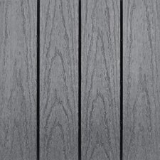 "Naturale Composite 12"" x 12"" Interlocking Deck Tiles in Grey (Set of 10)"