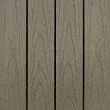 "Naturale Composite 12"" x 12"" Interlocking Deck Tiles in Egyptian Stone Gray (Set of 10)"