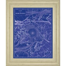 Arctic Map by The Vintage Collection Framed Graphic Art