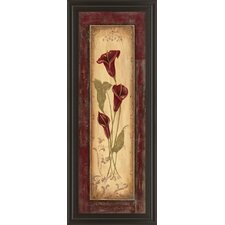 Crimson Blooms II by Jo Moulton Framed Painting Print