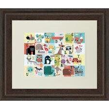 Animal Abc by Julian Phillips Framed Graphic Art
