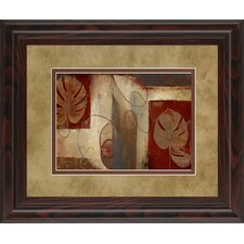 Inspiration in Crimson by Patricia Pinto Framed Painting Print