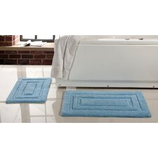 Elegance Spa 2 Piece Soft Cotton Bath Rug Set