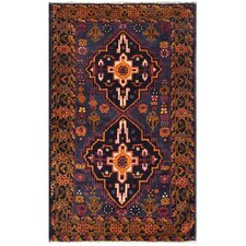 Hand Knotted Wool Brown/ Blue Area Rug