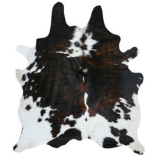 Natural Cow Hide Tricolor Area Rug