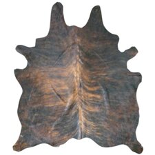 Natural Cowhide Dark Brindle Area Rug