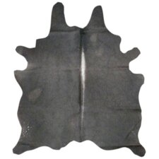 Natural Cowhide Black Area Rug