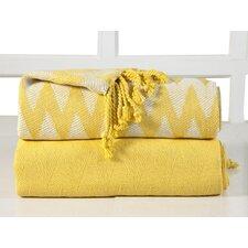 Chevron Cotton Throw Blanket (Set of 2)