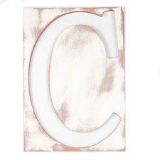 Large Mahogany Letter Frame Wall Decor