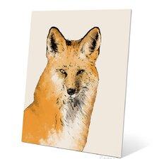Painted Fox Metal Graphic Art Plaque