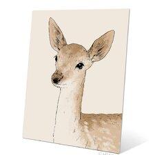 Painted Deer Metal Graphic Art Plaque