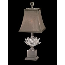 "Lucinda Crystal Accent 17.25"" H Table Lamp with Bell Shade"