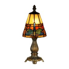 "Cavan Tiffany Accent 12.75"" H Table Lamp with Empire Shade"