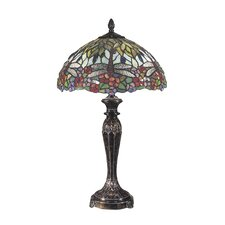"Floral 29"" H Table Lamp with Bowl Shade"