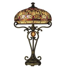 "Dragonfly 23.5"" H Table Lamp with Bowl Shade"