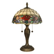 "Malta Tiffany 21.75"" H Table Lamp with Bowl Shade"