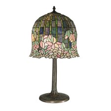 "Flowering Lotus 29"" H Table Lamp with Bell Shade"